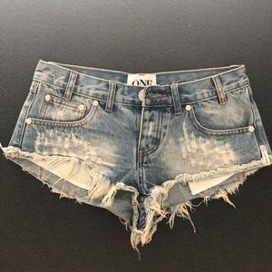 One Teaspoon Trash Whores Jean Shorts